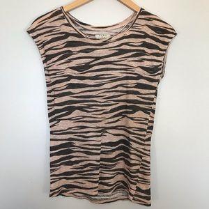 Zara 100% Linen Cap Sleeve Shirt